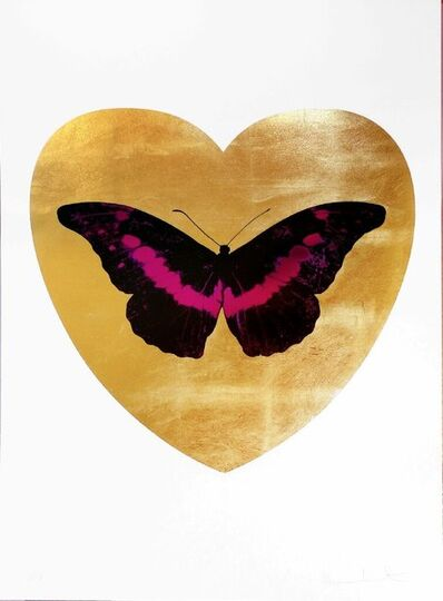 Damien Hirst, 'I Love You (gold leaf, black, fuchsia)', 2015
