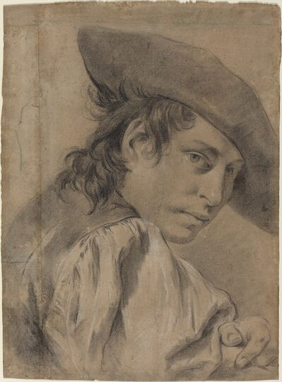 Giovanni Battista Piazzetta, 'A Young Man in a Broad Hat', ca. 1745