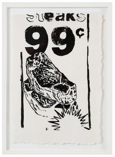 Andy Warhol, 'Steaks 99 CENTS (F/S CAT. # IIIA.68)', 1985
