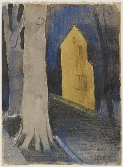 Oscar Bluemner, 'Yellow House on Bank Street, Elizabeth', 1924