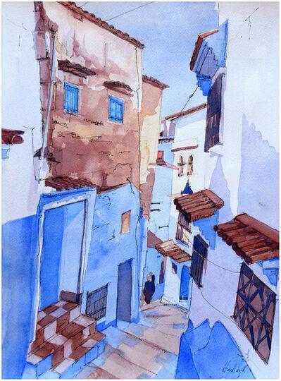 Hadley Rampton, 'Steps, Chefchaouen, Morocco', 2019