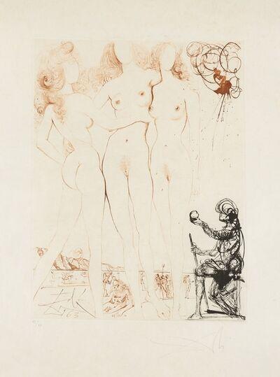 Salvador Dalí, 'Judgement of Paris (Three Graces) (Field 63-3I; M&L 123b)', 1963