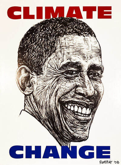 Robbie Conal, ''Climate Change' (Obama)', 2008