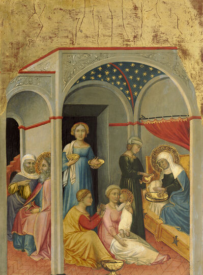 Andrea di Bartolo, 'The Nativity of the Virgin', ca. 1400