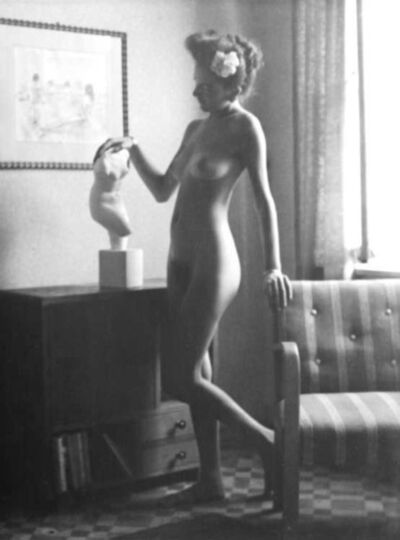 Willy Kessels, 'Female Nude with Flower in Hair and Bust', 1937-38