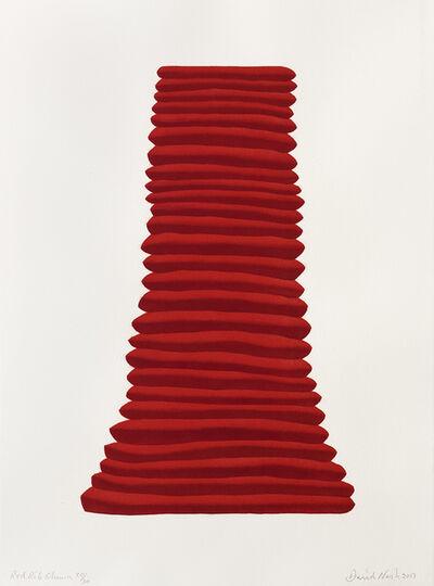 David Nash, 'Red Rib Column', 2017