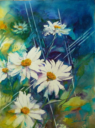Selina Cheng, 'White Daisies', 2016
