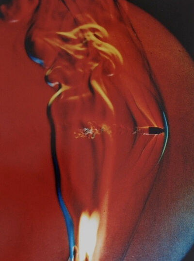 Dr. Harold Eugene Edgerton, 'Bullet through flame (Red)', 1973