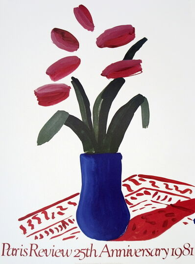 David Hockney, 'Flower Study Paris Review', 1981