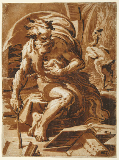 Ugo da Carpi, 'Diogenes', ca. 1524–27
