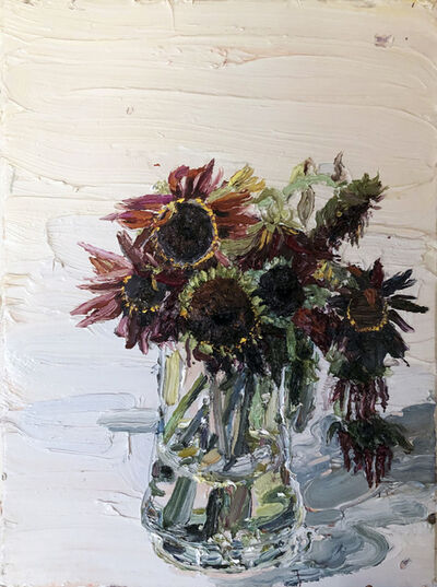 Allison Schulnik, 'Alizarin Sunflowers', 2011