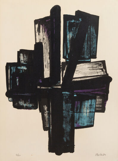Pierre Soulages, 'Lithographie n° 4', 1957