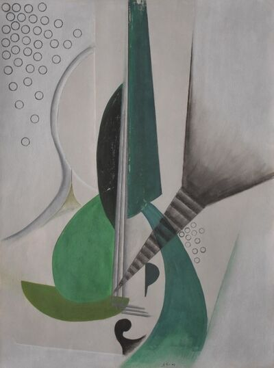 Will Henry Stevens, 'Abstract Composition in Green and Gray ', ca. 1935-1938