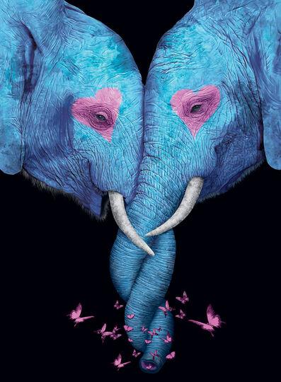 Sangwoo Koh, 'Elephant Kiss ', 2019