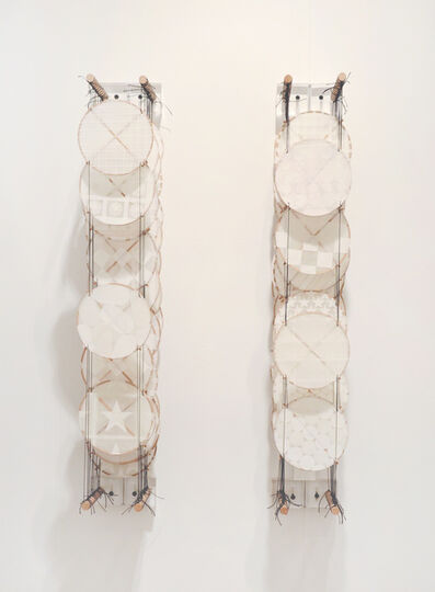 Jacob Hashimoto, 'Untitled (white diptych)', 2013