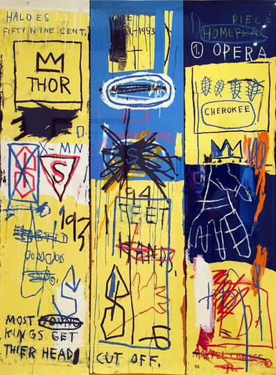Jean-Michel Basquiat, 'CHARLES THE FIRST 1982 BY JEAN-MICHEL BASQUIAT', 2005