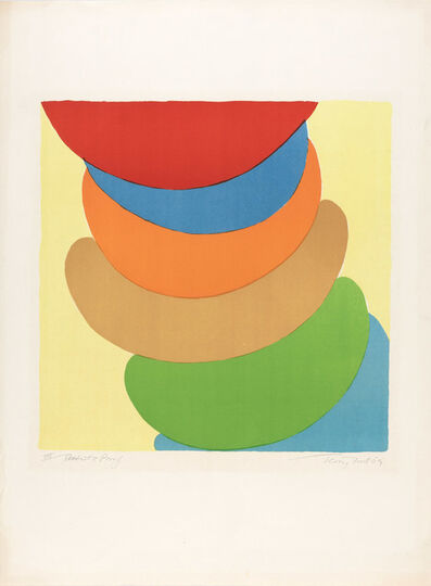 Sir Terry Frost, 'Red, Blue, Orange On Yellow (K. 51)', 1969