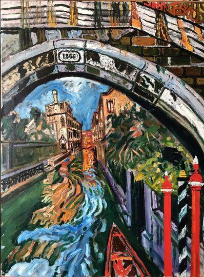 John Bratby, 'Lazy Back Canal, Venice  ', 1988/9