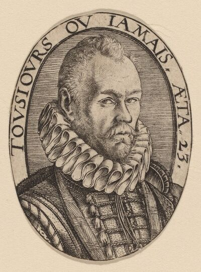 Hendrik Goltzius, 'Arnoud van Beresteyn', ca. 1579