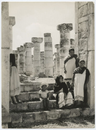 Laura Gilpin, 'Two vintage ferrotyped gelatin silver prints, Chichen Itza', 1930s