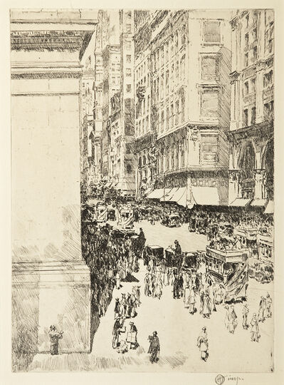 Childe Hassam, 'Fifth Avenue, Noon', 1916