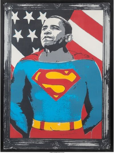 Mr. Brainwash, 'Obama Superman', 2008