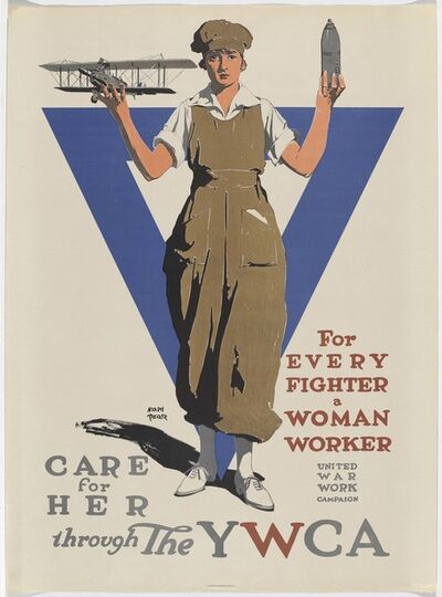 ADOLPH TREIDLER, 'For Every Fighter a Woman Worker', 1918