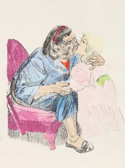 Paula Rego, 'Grandmother Kissing Grandchild I', 2001-2018