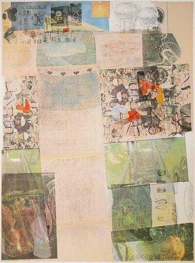 Robert Rauschenberg, 'Robert Rauschenberg, Deposit from America: The Third Century, screenprint, collage, signed 1975', 1975