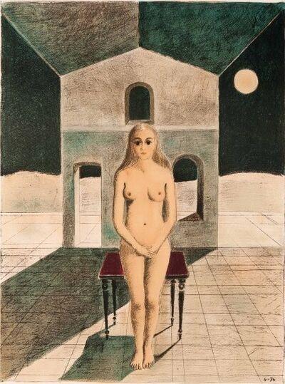 Paul Delvaux, 'La voyante', 1974
