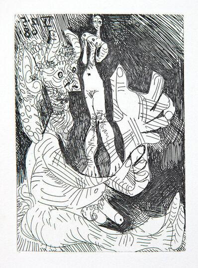 Pablo Picasso, 'Vieux faune avec une Poupée Vivante', 1968