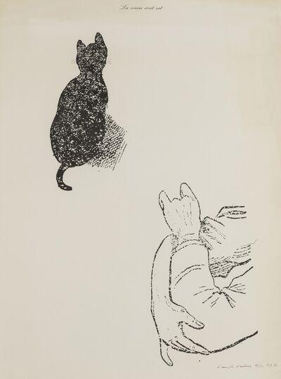 Marcel Broodthaers, 'La Souris écrit rat (A Compte d'auteur) (Jamar 20)', 1974