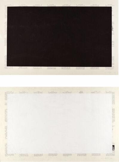 Tim Rollins and K.O.S., 'Black Alice & White Alice', 1989