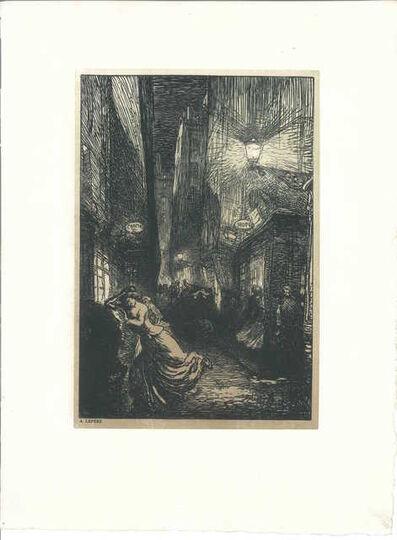 Auguste Lepère, 'La rafle (The Raid)', 1910