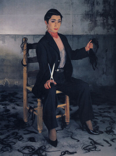 Yasumasa Morimura, 'An Inner Dialogue with Frida Kahlo (Self-Portrait with Cropped Hair 1)', 2001