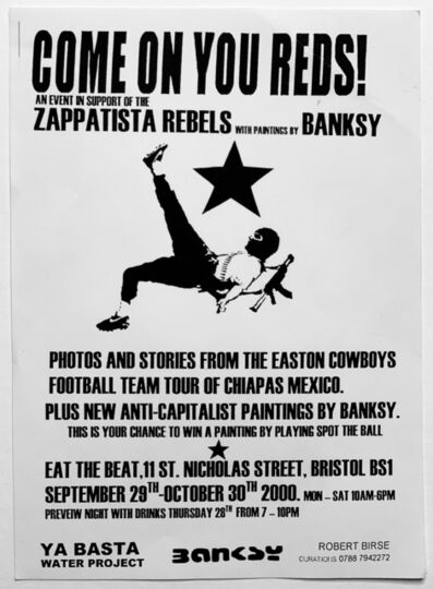 Banksy, ''COME ON YOU REDS!' (Exhibition invitation)', 2000