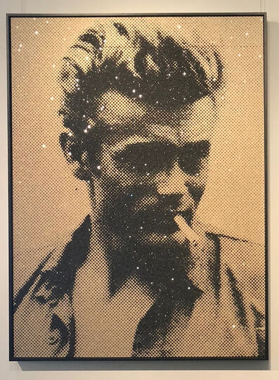 Russell Young, 'James Dean, Atomic Black & Gold'