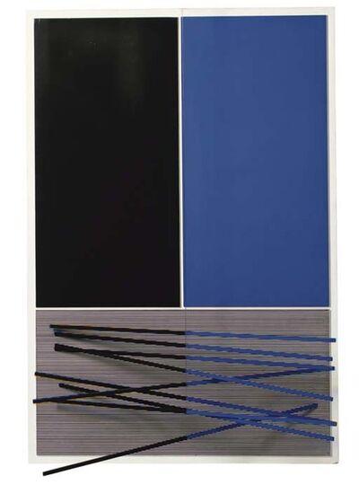 Jesús Rafael Soto, 'Grandes barres bleues et noires', 1965