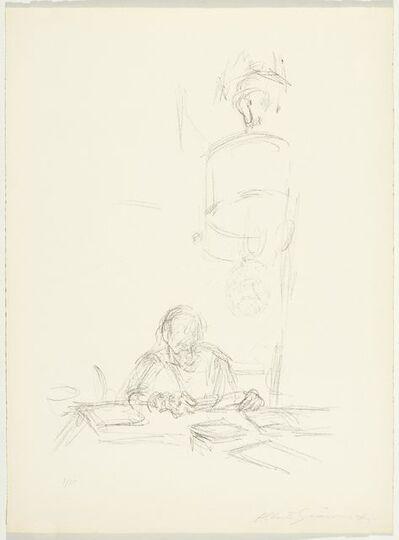 Alberto Giacometti, 'La mère de l'artiste lisant sous la lampe à Stampa III', 1963