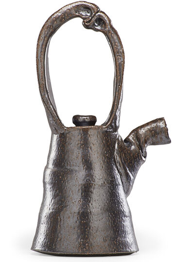 Ken Ferguson, 'Large teapot with sculptural handle, Shawnee Mission, KS', 1970s