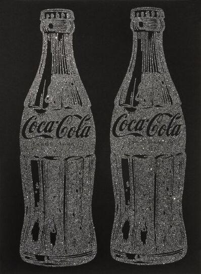 Cey Adams, 'Double Coca-Cola (black on black) with Diamond Dust', 2017