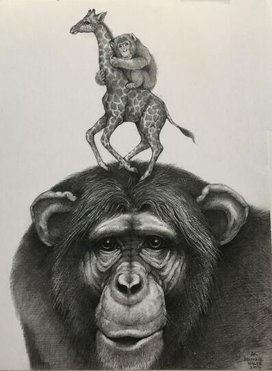 Adonna Khare, 'Chimpanzee and Giraffe', 2017