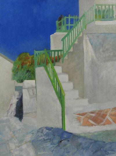Guy Bardone, 'Les rampes vertes (Folegandros- Grece)', 1990