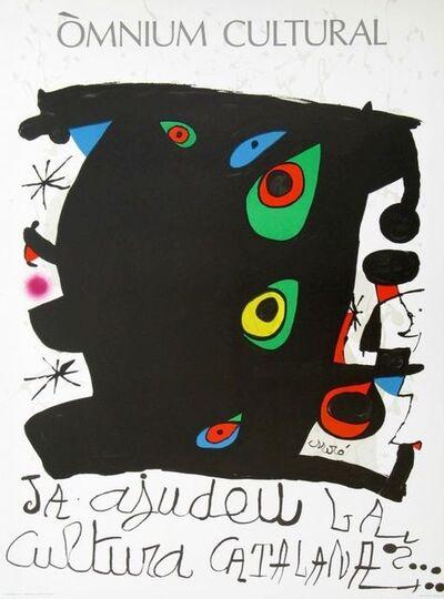 Joan Miró, 'Òmnium Cultural. Ja ajudeu la Cultura Catalana', 1974