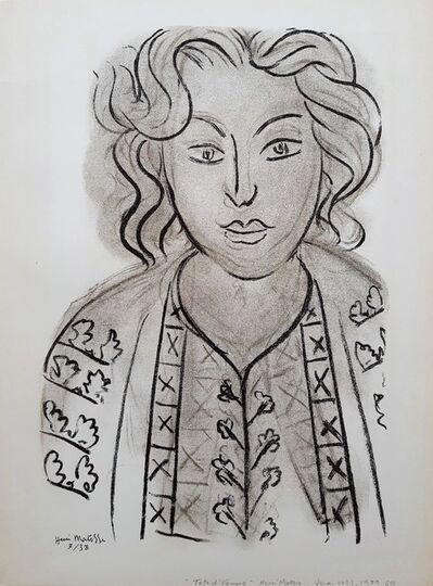 Henri Matisse, 'Tete de Femme', 1939
