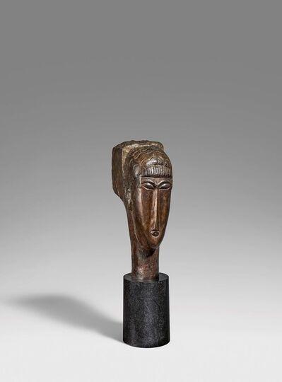 Amedeo Modigliani, 'Tête de jeune fille à la frange'