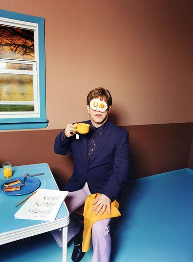 David LaChapelle, 'Elton John: Egg on His Face', 1999