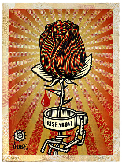 Shepard Fairey, 'Rose Shackle ', 2019