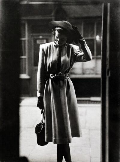 Norman Parkinson, 'Fashion Study in Doorway, Brogue, March', 1946