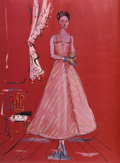 Christian Berard, 'Dress by Elsa Schiaparelli, 1890-1973, illustration from Vogue', 1937